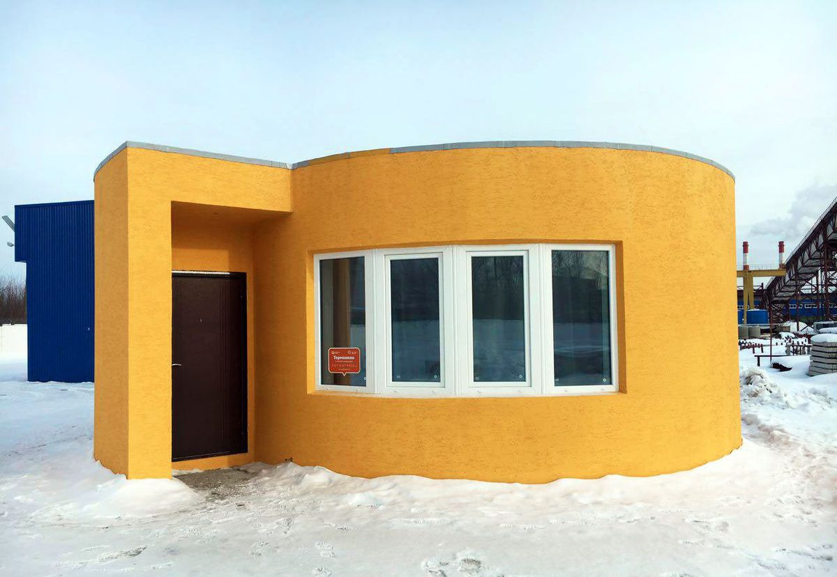3d printed concrete house