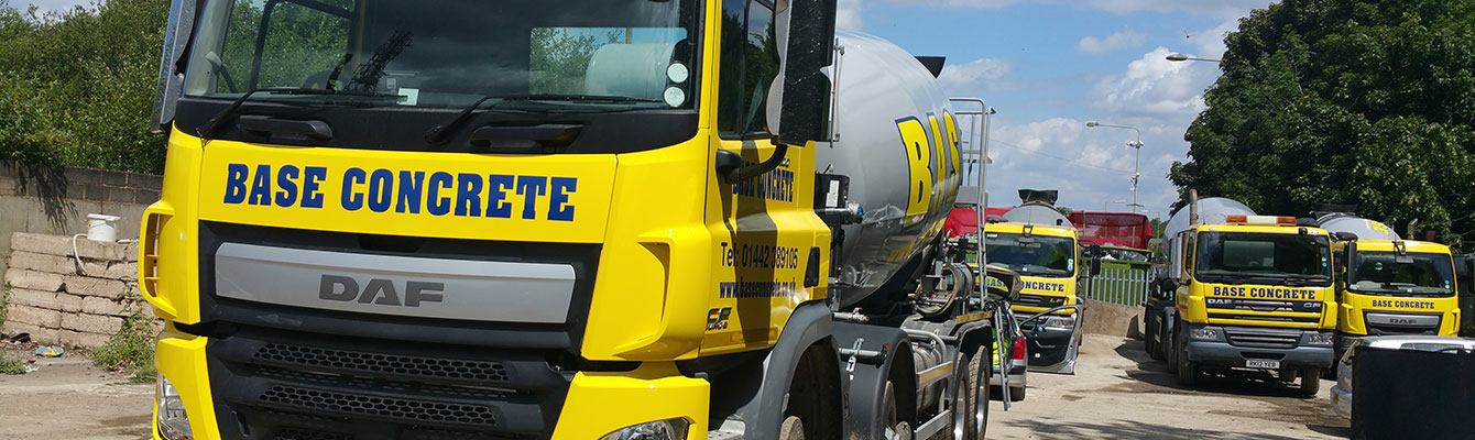 Fleet of Base Concrete trucks