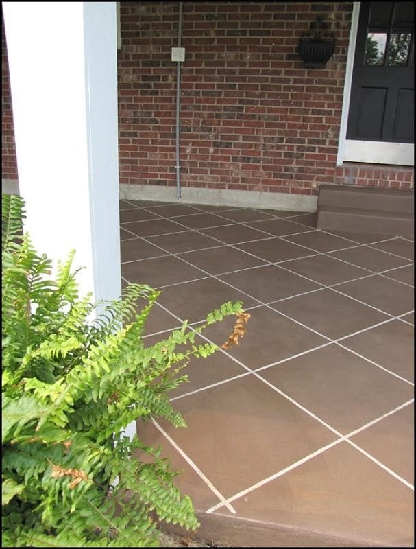 tiles with concrete stain effect