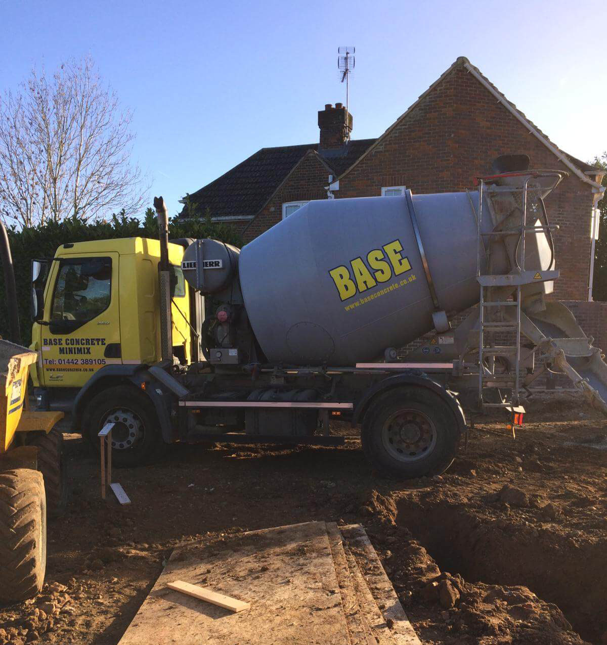 base concrete truck