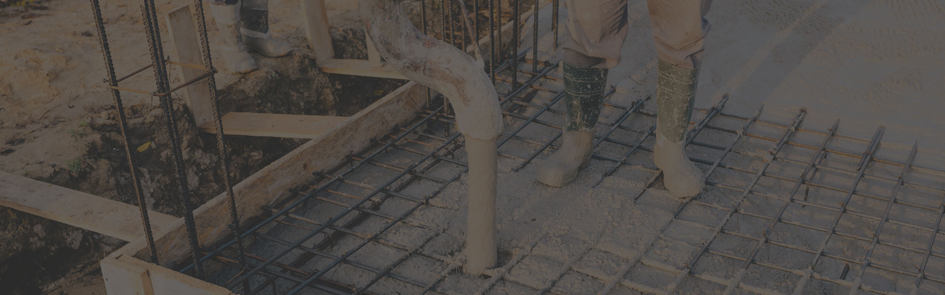 Professional concrete mixing and pouring