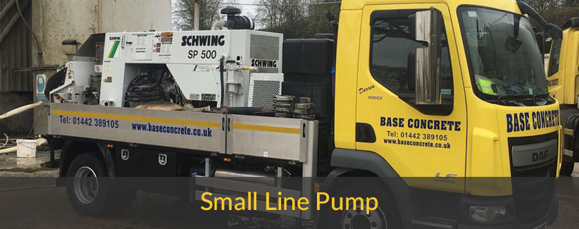 Small line concrete pump
