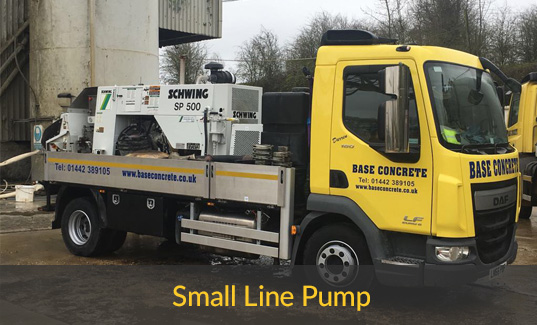 Small line pump concrete truck