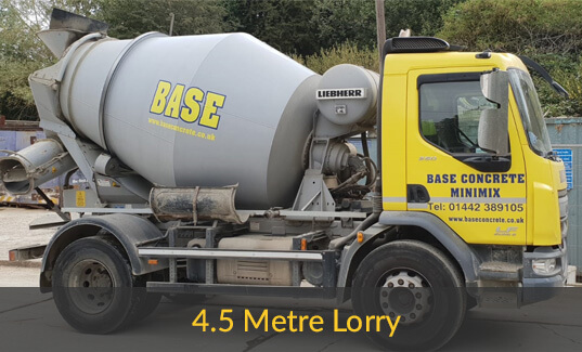 4.5 meter long concrete lorry