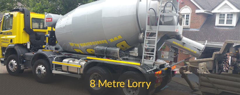 8 meter long concrete lorry