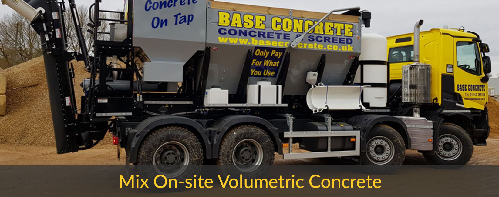 Mix onsite volumetric concrete truck