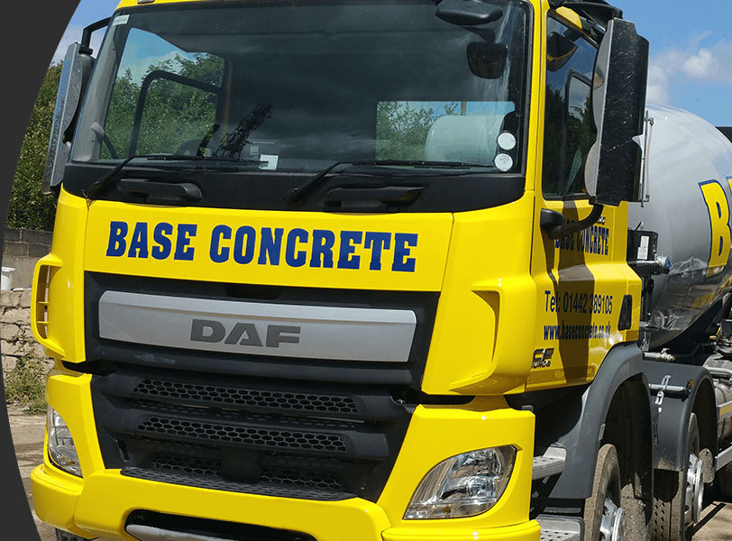 base concrete lorry